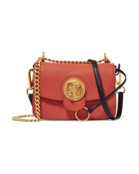 Chloé   Mily Small Textured-Leather And Suede Shoulder Bag   Lyst