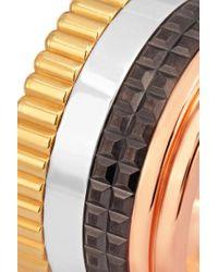 Boucheron Metallic Quatre Classique Large Ring Aus 18 Karat Gelb-, Rosé- Und Weißgold Mit Pvd-beschichtung