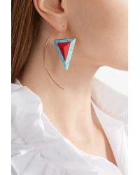 Fendi - Multicolor Gold-tone Stone Earring - Lyst