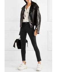Acne Black Hoch Sitzende Skinny Jeans
