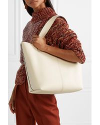 Victoria Beckham - White Apron Textured-leather Tote - Lyst