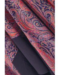 Loewe Multicolor Maxikleid Aus Bedrucktem Baumwoll-jersey Mit Asymmetrischer Schulterpartie Und Rüschen