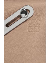 Loewe - Natural Missy Textured-leather Clutch - Lyst