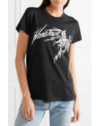 Givenchy Black Printed Cotton-jersey T-shirt