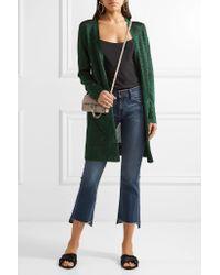 Missoni Green Metallic Crochet-knit Cardigan
