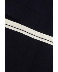 Chloé Blue Zweifarbiges Oversized-cape Aus Wolle
