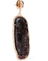 Kimberly Mcdonald | Multicolor 18-karat Rose Gold, Geode And Diamond Earrings | Lyst
