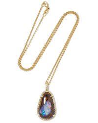 Kimberly Mcdonald - Metallic 18-karat Gold, Opal And Diamond Necklace - Lyst