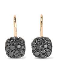 Pomellato   Metallic Nudo 18-karat Rose Gold Diamond Earrings   Lyst