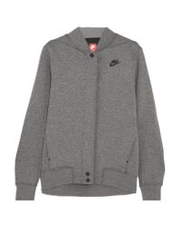 Nike Gray Tech Fleece Destroyer Perforated Cotton-blend Jersey Jacket