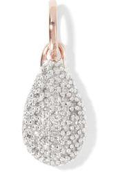 Monica Vinader - Multicolor Stellar Rose Gold Vermeil Diamond Pendant - Lyst