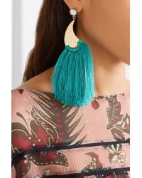 Etro - Metallic Gold-tone Tassel Earrings - Lyst