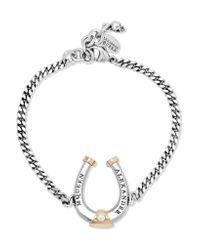 Alexander McQueen - Metallic Ruthenium And Gold-plated Swarovski Pearl Bracelet - Lyst