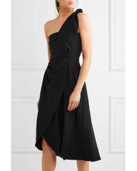 J.W.Anderson - Black One-shoulder Draped Crepe Dress - Lyst