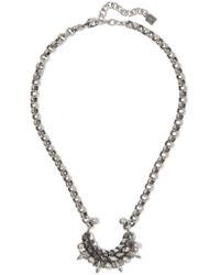 DANNIJO - Metallic Urchin Oxidized Silver-plated Swarovski Crystal Necklace - Lyst