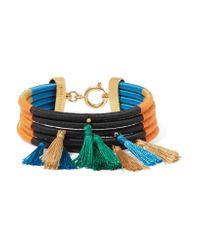 Isabel Marant | Orange Tasseled Cotton Bracelet | Lyst
