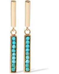 Isabel Marant | Metallic Gold-tone Howlite Earrings | Lyst