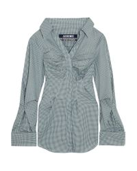 Jacquemus | Green Checked Cotton Shirt | Lyst
