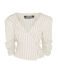 Jacquemus | Multicolor Striped Cotton And Linen-blend Wrap Jacket | Lyst