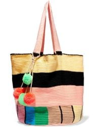 Sophie Anderson - Multicolor Jonas Pompom-embellished Woven Tote - Lyst