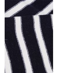 Vince - Blue Hooded Striped Cashmere Sweater - Lyst