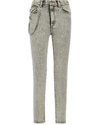 Marc Jacobs | Gray Embellished Appliquéd High-rise Skinny Jeans | Lyst