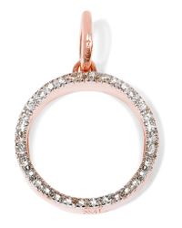 Monica Vinader - Metallic Naida Circle Rose Gold Vermeil Diamond Pendant - Lyst