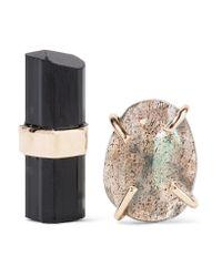 Melissa Joy Manning | Metallic 14-karat Gold, Labradorite And Tourmaline Earrings | Lyst
