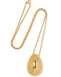 Sophie Buhai - Metallic Egg Gold Vermeil Necklace - Lyst