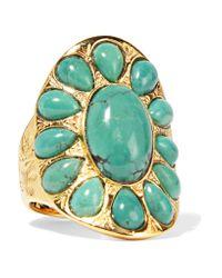 Aurelie Bidermann | Metallic Gold-plated Turquoise Ring | Lyst