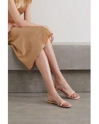 Gianvito Rossi Multicolor Sandalen Aus Changierendem Veloursleder Mit Kristallen