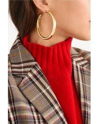 Jennifer Fisher - Metallic Samira Gold-plated Hoop Earrings - Lyst