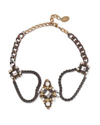 Erickson Beamon | Metallic The Affair Gold-plated, Swarovski Crystal And Faux Pearl Necklace | Lyst