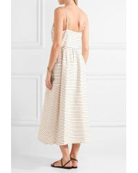 Mara Hoffman - Natural Striped Cotton-blend Midi Dress - Lyst