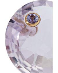 Marie-hélène De Taillac - Metallic 22-karat Gold, Amethyst And Tanzanite Earrings - Lyst