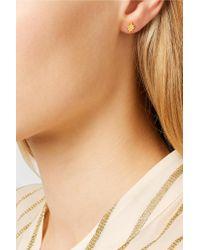 Scosha - Metallic Nova And Classic Heart Gold-plated Diamond Earrings - Lyst