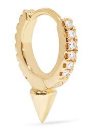 Maria Tash | Metallic 18-karat Gold Diamond Earring | Lyst