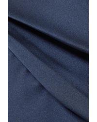 Monique Lhuillier - Blue Off-the-shoulder Satin Gown - Lyst