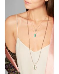 Pascale Monvoisin - Multicolor Belleville 9-karat Rose Gold Turquoise Necklace - Lyst