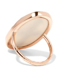 Pascale Monvoisin - Blue Bowie 9-karat Rose Gold, Turquoise And Resin Ring - Lyst