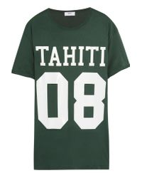 Mikoh Swimwear Green Printed Cotton-jersey T-shirt