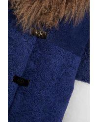 Saks Potts - Blue Febbe Color-block Shearling Coat - Lyst