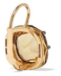 Fred Leighton Metallic Collection 18-karat Gold, Silver And Citrine Earrings