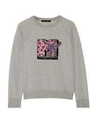 Marc Jacobs | Gray Appliquéd Cotton-terry Sweatshirt | Lyst