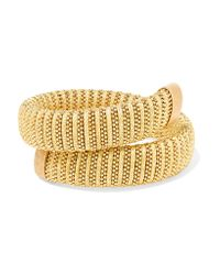 Carolina Bucci - Metallic Caro Gold-plated And Lurex Bracelet - Lyst