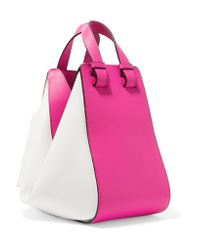 Loewe | Pink Hammock Small Two-tone Leather Shoulder Bag | Lyst