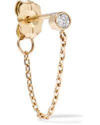 Catbird | Metallic Chained To My Heart 14-karat Gold Diamond Earring | Lyst