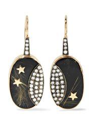 Andrea Fohrman - Metallic 14-karat Gold, Rhodium-plated And Multi-stone Earrings - Lyst