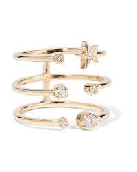 Andrea Fohrman | Metallic Triple Star 18-karat Gold Diamond Ring | Lyst