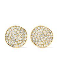Ippolita | Metallic Glamazon® Stardust Flower 18-karat Gold Diamond Earrings | Lyst